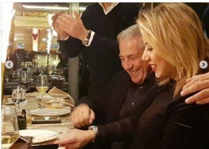 فاتن موسى تحتفل مع مصطفى فهمي بعيد زواجهما