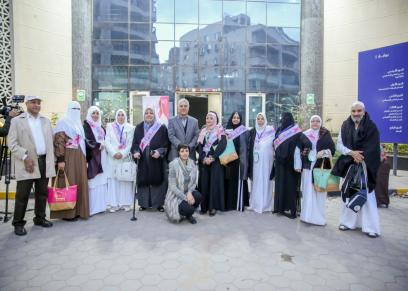 مستشفى بهية وتودع أول فوج للعمرة بالمجان لمحاربات سرطان الثدي