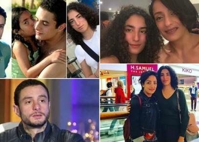 أحمد الفيشاوي وطليقته وابنته