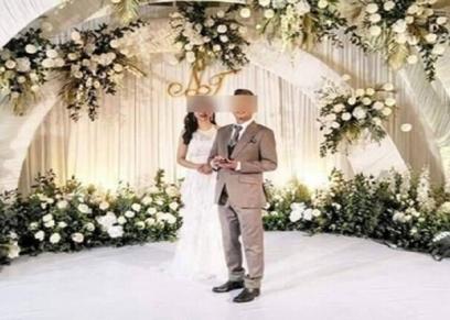 العروسين في حفل زواجهما