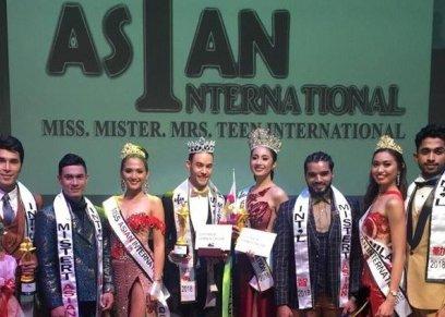 الفائزين بالمراكز الخمس الأولى بمسابقة ملك وملكة جمال آسيا 2018