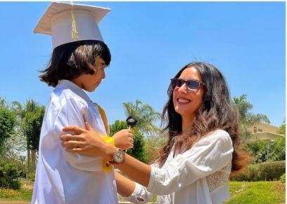 ريهام أيمن وابنها