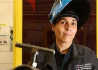 مريم بوبرام تعمل في مجال اللحام المعدني