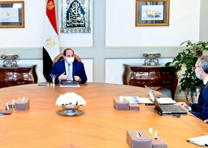الرئيس عبد الفتاح السيسي في أحد الاجتماعات