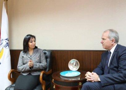 مايا مرسي تستقبل السفير توماس أنكر كريستنسن سفير الدنمارك بالقاهرة