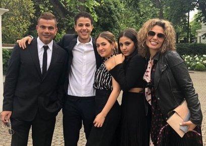 أسرة عمرو دياب