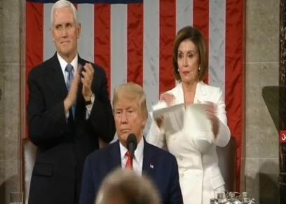 آخرها تمزيق خطاب الكونجرس.. ترامب وبيلوسي صراعات سياسية مستمرة