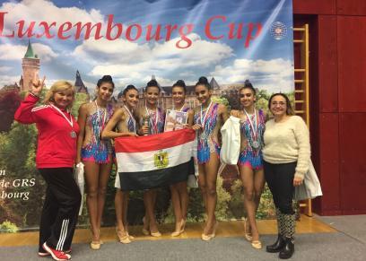 فريق الجمبار المصري الفائز في بطولة لوكسمبرج