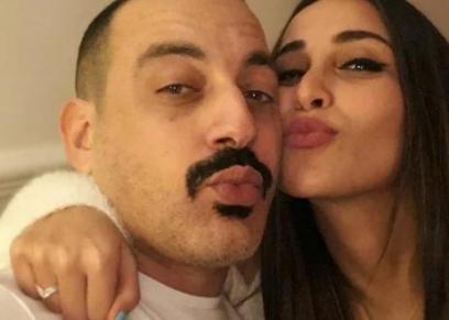 محمد دياب وزوجته هاجر الإبياري