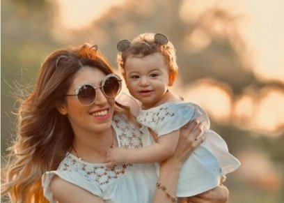 من احتفال ندى محمود بعيد ميلاد طفلتها مليكة