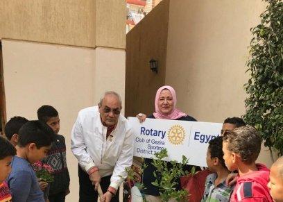 «روتاري الجزيرة» ينظم زيارة لدار رفقاء النبي لحث الأطفال  على الاهتمام بالبيئة
