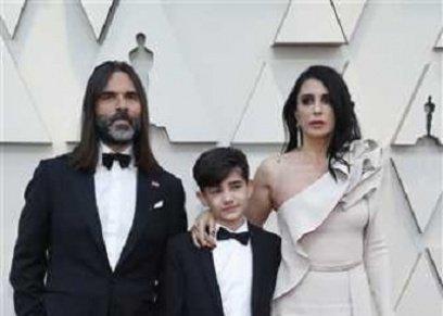 نادين لبكي وزوجها وبطل الفيلم
