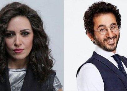 ريهام عبد الغفور تنشر صورة بصحبة أحمد حلمي  من كواليس مسلسلهم الاذاعي