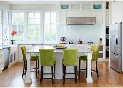 ديكور المطبخ باللون الأخضر
