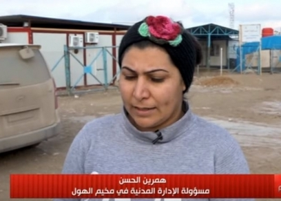 مسئول الإدارة المدنية بمخيم الهول همرين الحسن