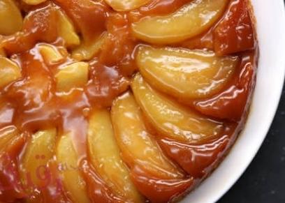 طريقة عمل كيك التفاح المقلوب