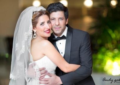 الفنان الأردني إياد نصار وزوجته شيماء الليثي