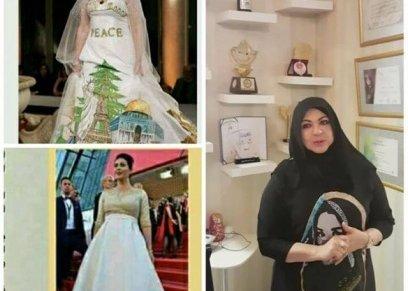 """وزيرة اسرائلية تسرق فستان """"السلام"""""""