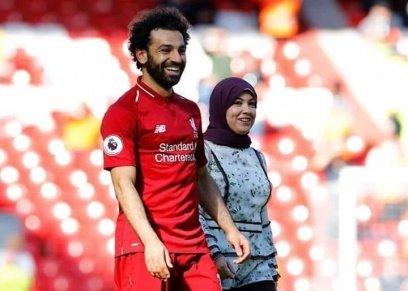 إطلالة زوجة محمد صلاح على ملعب الأنفيلد لهذا العام