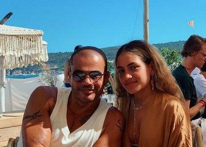 عمرو دياب مع ابنته كنزي