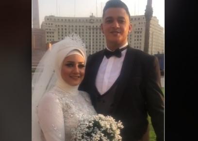 عروسان في ميدان التحرير