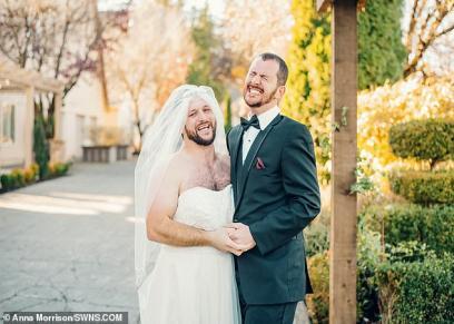 بالصور| كاد أن يسقط أرضًا.. عريس يتفاجئ بصديقة بفستان الزفاف بدلاً من زوجته