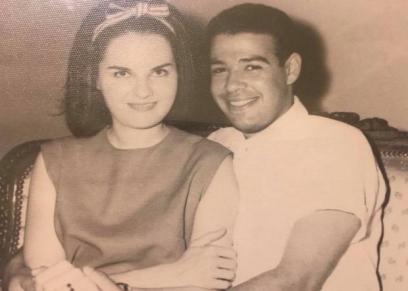 الراحلان إبراهيم سعدة وزوجته