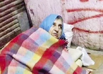 مسنة سورية تعيش على
