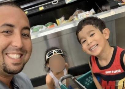 الطفل مع والده