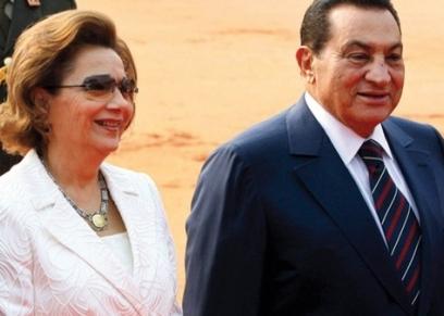 الرئيس الأسبق حسني مبارك وقرينته سوزان مبارك