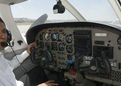 المرأة السعودية تخترق مجال الطيران في 2019