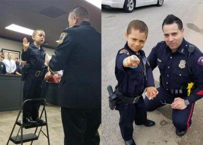 بالصور والفيديو| أصغر شرطية في العالم تؤدي اليمين في تكساس