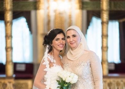 الوزيرة نيفين القباج ونجلتها مريم