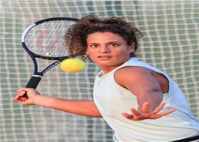 ميار شريف لاعبة التنس المصرية