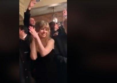 بالفيديو  نيللي ترقص على أنغام