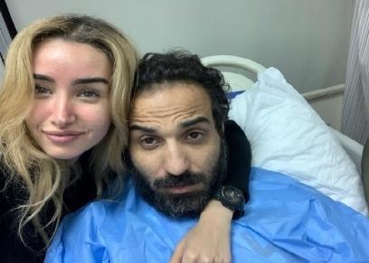 الفنان أحمد فهمي وزوجته