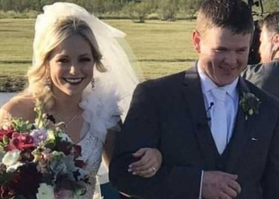 بعد حفل زفافهما.. السماء تستقبل زوجين أمريكيين