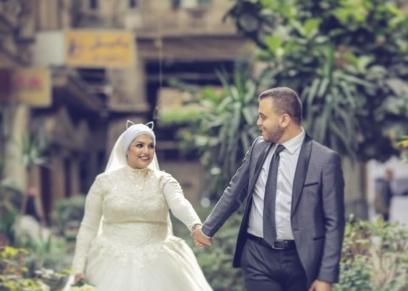 الشاب محمود الحديدي وزوجته نادية إدريس