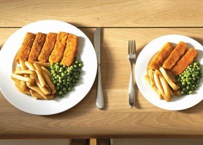 تناول طعام أقل بدون ريجيم