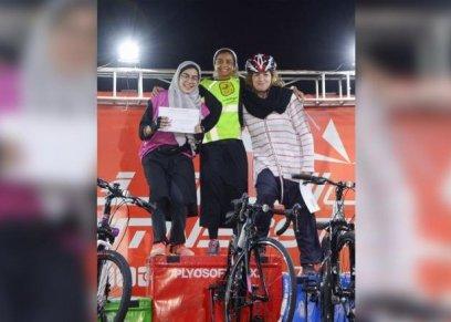 الفائزة بأول سباق نسائي للدراجات الهوائية في السعودية: الرياضية طريق لاكتشاف روعتك