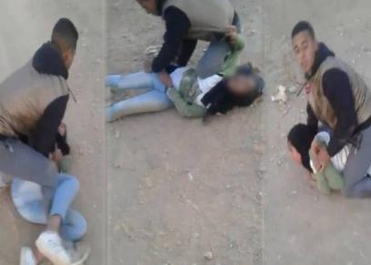 صورة من فيديو محاولة اغتصاب قاصر في المغرب