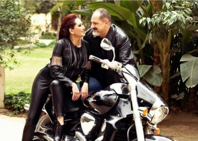 خالد الصاوي وزوجته
