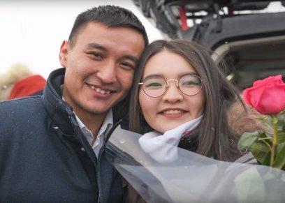 الشاب الكازاخستاني وحبيبته