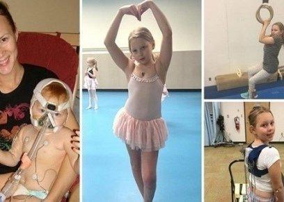 طفلة تتحدى الإعاقة وتمارس الرقص والسباحة