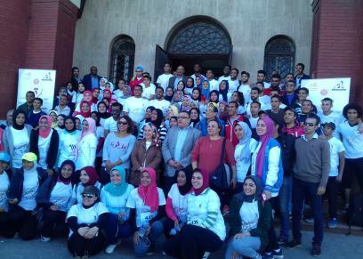 طلاب جامعة الإسكندرية يرفعون شعار