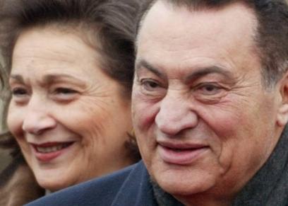 حسني مبارك وسوزان ثابت