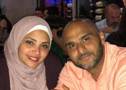نهلة عبيد وزوجها