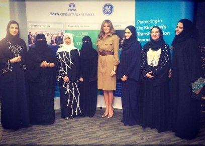 ميلانيا ترامب مع سيدات سعوديات