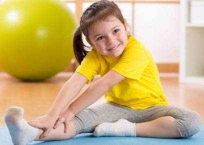 ممارسة الأطفال للتمارين الرياضية