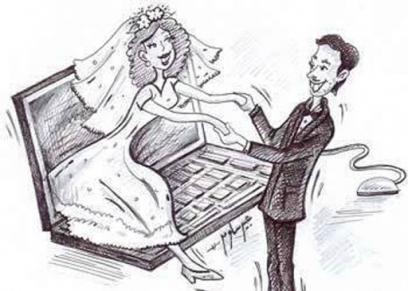 الزواج عبر الإنترنت